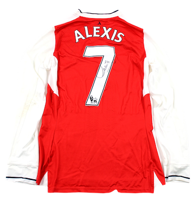Original matchworn poppy jersey by Alexis Sanchez!