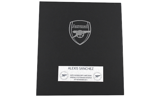 Original matchworn poppy jersey by Alexis Sanchez - certificate of authenticity