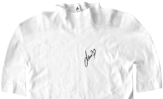 Adidas sports T-shirt signed by Lena Gercke