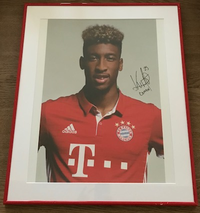 FC Bayern Munich player portrait original signed by Kingsley Coman