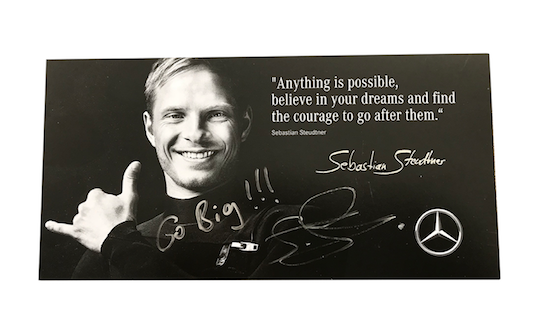 Original signed autograph card by Sebastian Steudtner