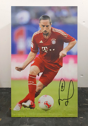 Player portrait original signed by Franck Ribéry FC Bayern Munich