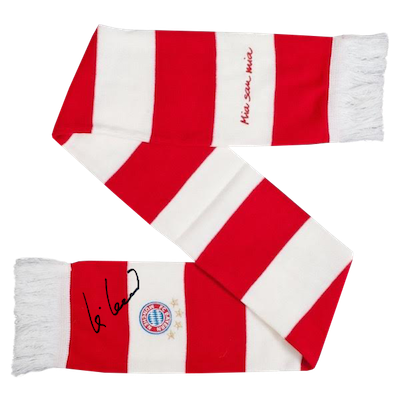 Original signed FC Bayern Munich scarf by Uli Hoeneß