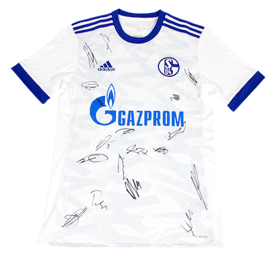 FC Schalke 04 away jersey signed by the whole team