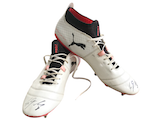 Original signed football boots by Simon Terodde
