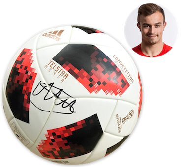 FIFA World Cup Knockout competition ball signed by Xherdan Shaqiri