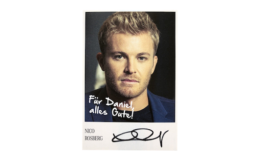 Autograph card from Nico Rosberg
