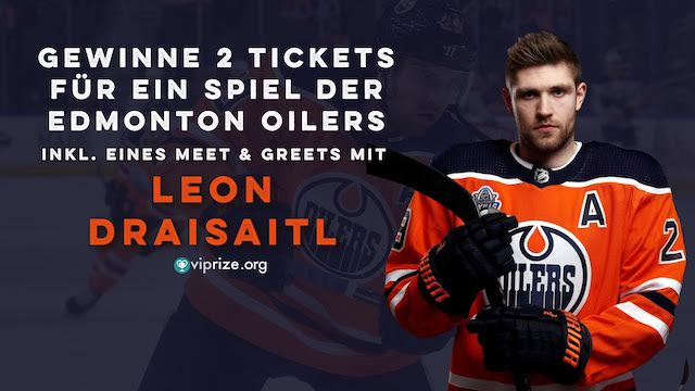 Win 2 tickets to an Edmonton Oilers game including a meet & gree