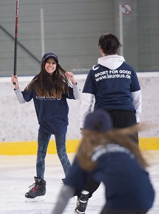Laureus Sport for Good - Kick on Ice project