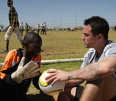 Diego Benaglio at an African Football Camp by Laureus Sport for
