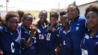 Philipp Lahm Foundation - group of African girls