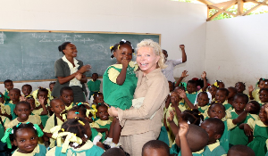 UNESCO Special Ambassador Ute-Henriette Ohoven for the Education for Children in Need program