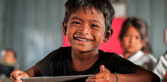Save the children schoolboy from Nepal