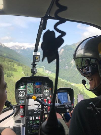 Heli-flight with Thomas Morgenstern -view from the cockpit