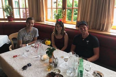 Lunch at the Wellness hotel Eggerwirt in St. Michael with Thomas Morgenstern and VIPrize winner.