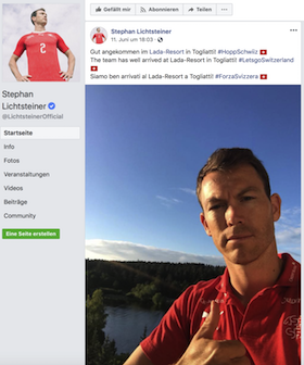 Thank You Tweet Stephan Lichtsteiner